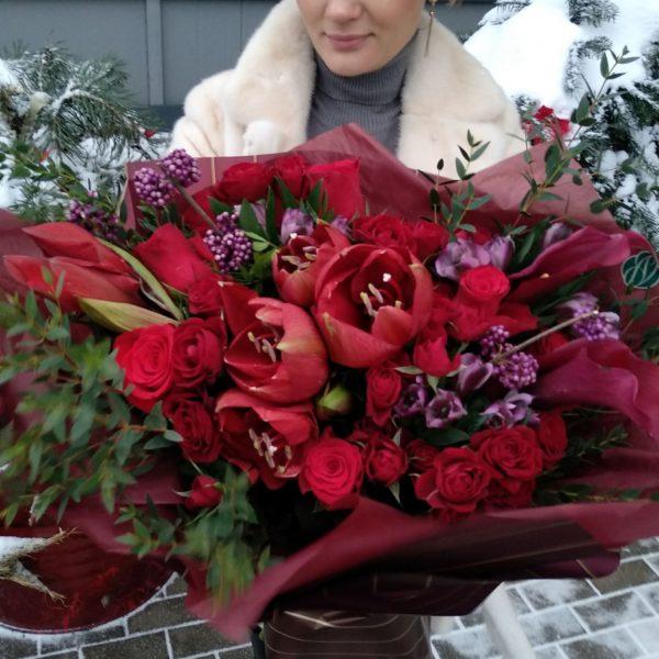190 амарилис,нобилис, роза фридом, роза куст — копия