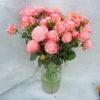 Роза кустовая нежно-розовая Кения 3